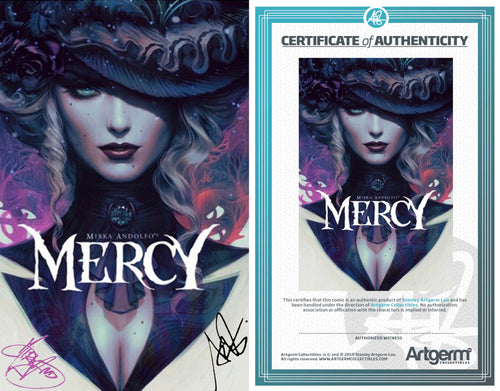 Signed with Metal COA Mercy #1 Artgerm Variant Signed by Artgerm & Mirka Andolfo (3/4/20 Release)