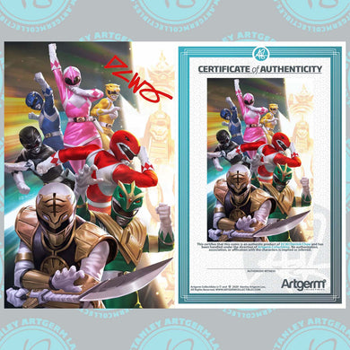 Signed with Metal COA Mighty Morphin #1 Art By DCWJ Exclusive Virgin Variant (11/04/20 Release)