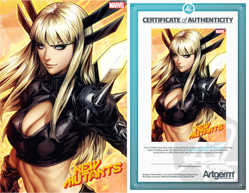 Signed With Metal COA New Mutants #1 Artgerm Variant (11/06/2019 Release)