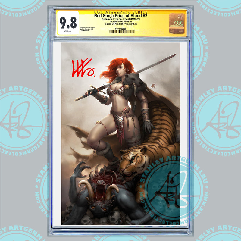 Red Sonja: The Price of Blood #2 Art By Kunkka Exclusive PUREart Variant CGC 9.8