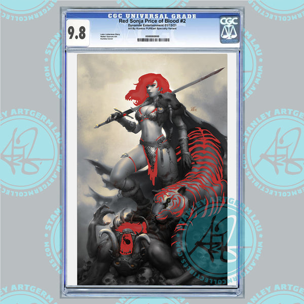 Red Sonja: The Price of Blood #2 Art By Kunkka Exclusive PUREart Foil Variant CGC 9.8