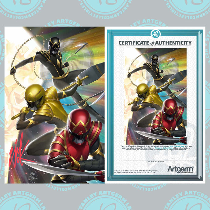Signed with Metal COA Power Rangers #1 Art By Ejikure Exclusive Virgin Variant (11/11/20 Release)
