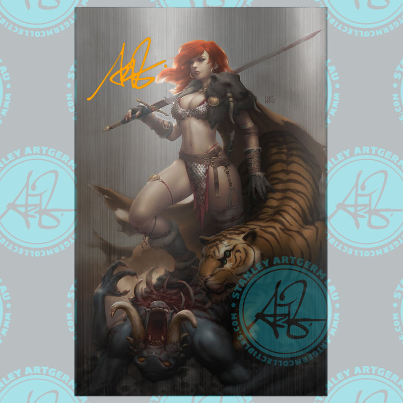 Red Sonja: The Price of Blood #2 Art By Kunkka Exclusive  METAL Cover Variants