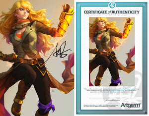 Signed With Metal COA RWBY #5 Artgerm Variant (02/12/20 Release Date)