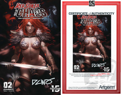 Signed with Metal COA Red Sonja Age of Chaos #2 DCWJ variant