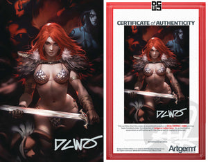 Signed with Metal COA Red Sonja Age of Chaos #2 DCWJ Virgin variant