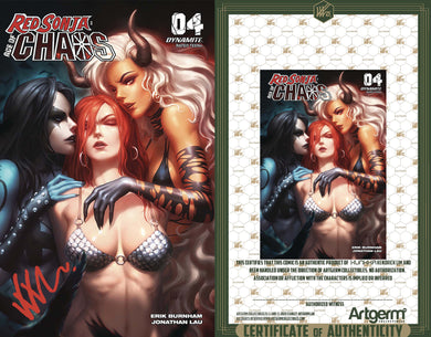 Signed with Metal COA Red Sonja: Age of Chaos #4 Kunkka Trade Dress Cover (4/15/20 Release)