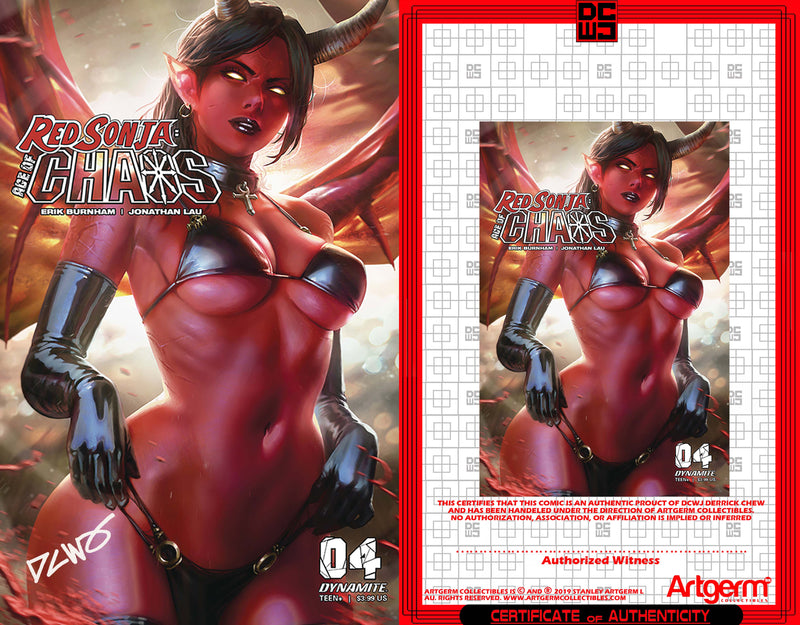 Signed With Metal COA Red Sonja: Age of Chaos #4 DCWJ Trade Dress Variant (4/15/2020 Release)