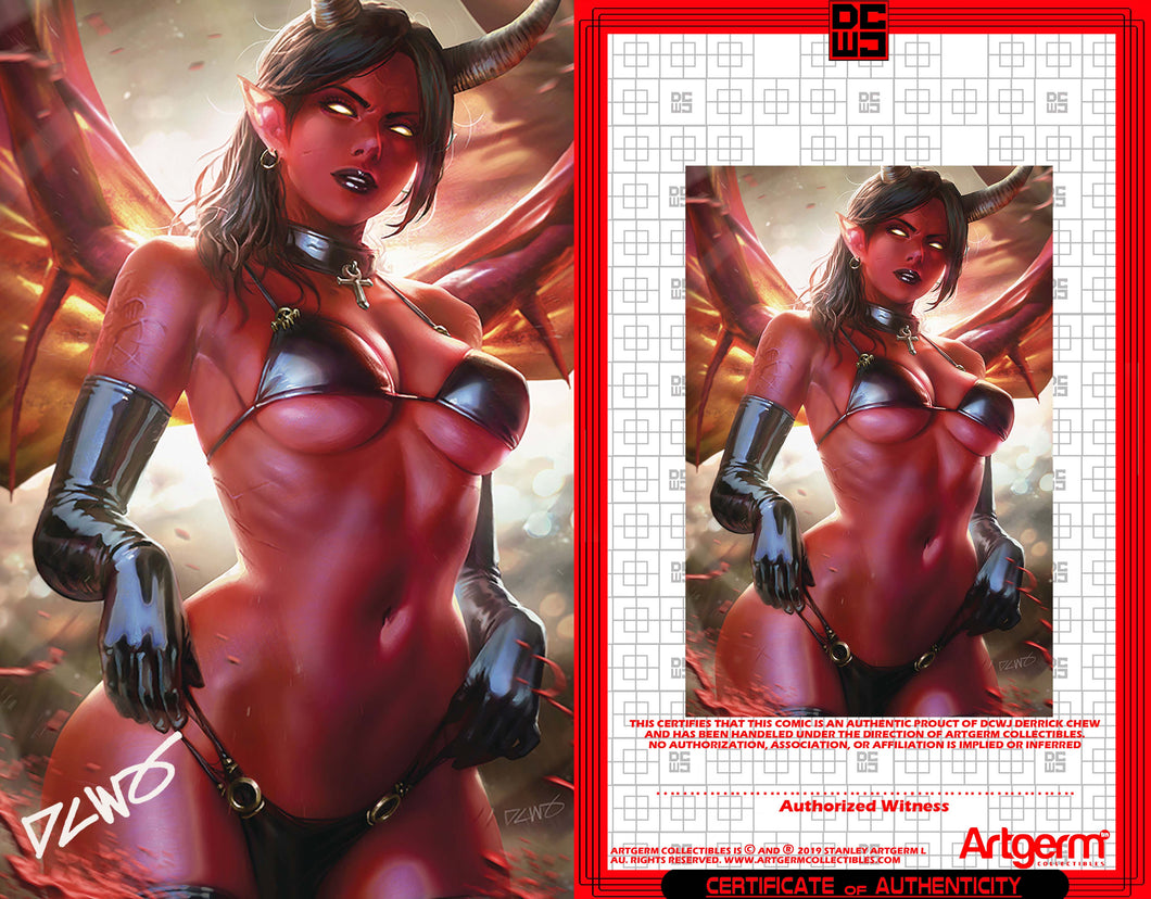 Signed With Metal COA Red Sonja: Age of Chaos #4 DCWJ Virgin Variant (4/15/2020 Release)