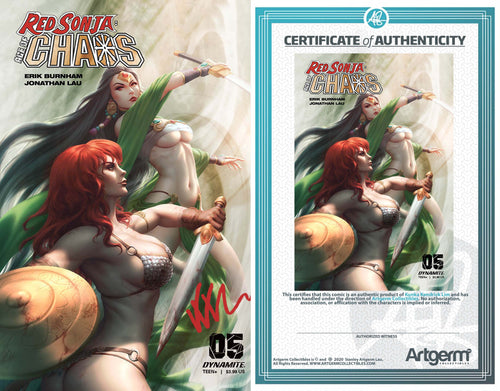 Signed With Metal COA Red Sonja: Age of Chaos #5 Kunkka Trade Dress Variant (5/20/2020 Release)
