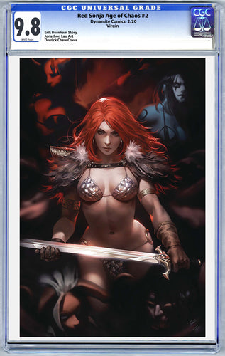 Red Sonja Age of Chaos #2 DCWJ Virgin Graded