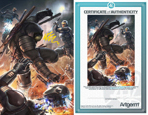 Signed with Metal COA TMNT: The Last Ronin #1 Art By Kunkka PUREart Variant (8/19/20 Release)