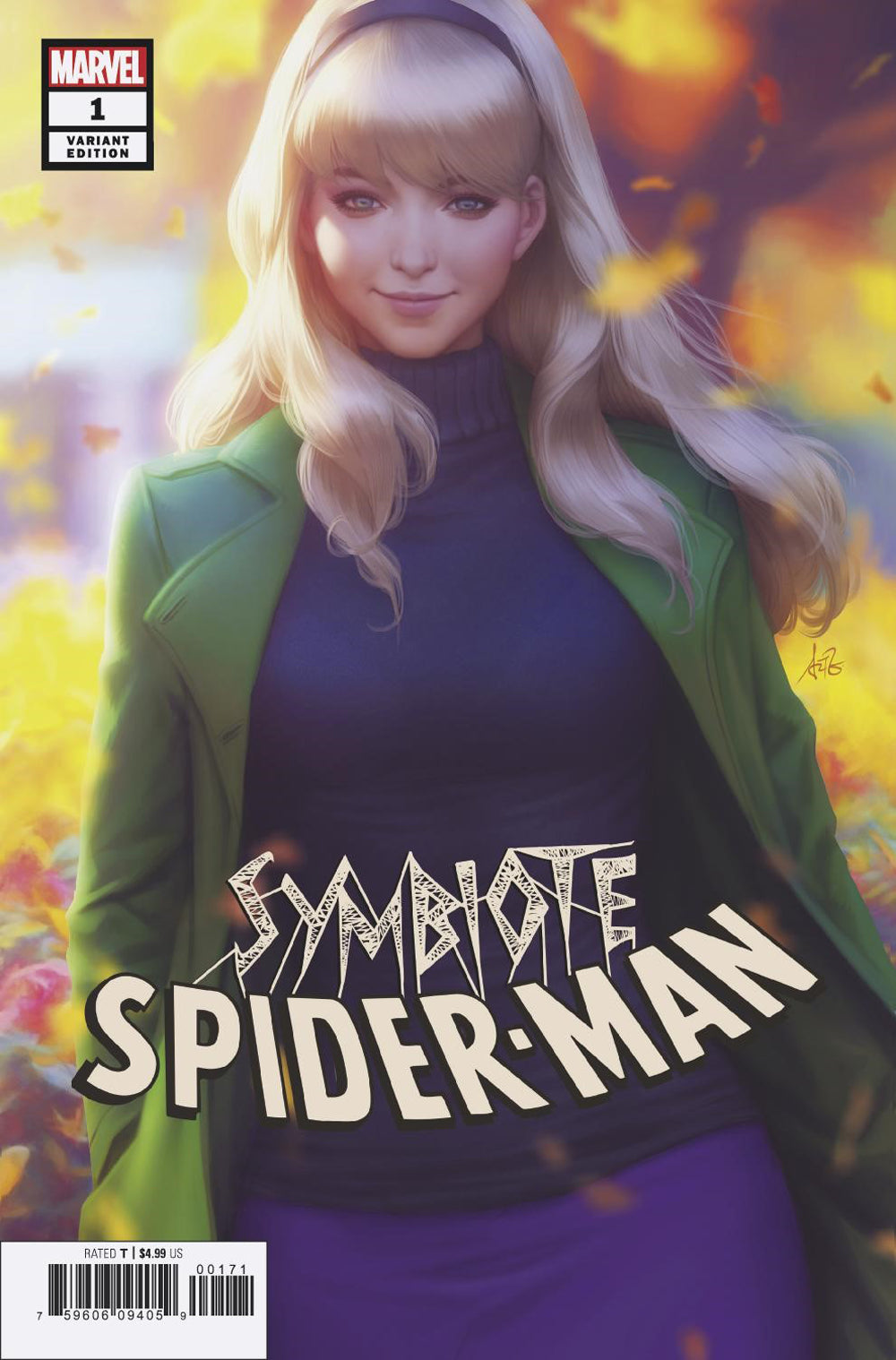 Symbiote Spider-man Artgerm Trade Dress Variant Edition Signed (PRE-ORDER 4/10/19 RELEASE DATE)