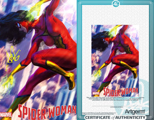 Signed with Metal COA Spider-Woman #1 Artgerm Variant (PRE-ORDER - 3/18/2020 release date)