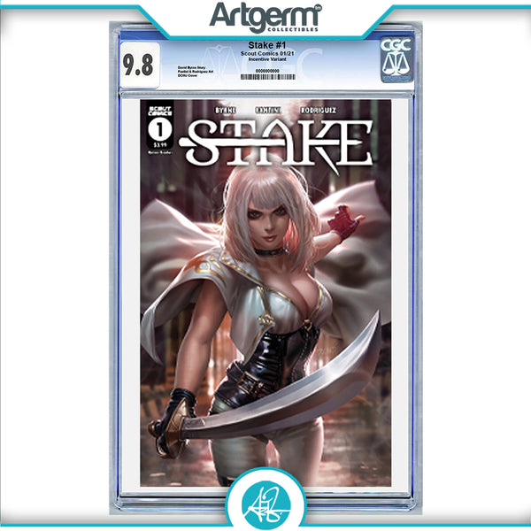 Stake #1 DCWJ Derrick Chew Retailer Incentive Variant Graded 9.8