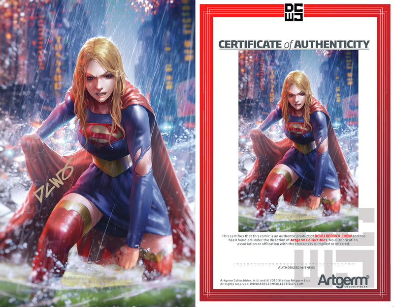 Signed With Metal COA Supergirl #39 DCWJ Variant (2/12/20 Release)