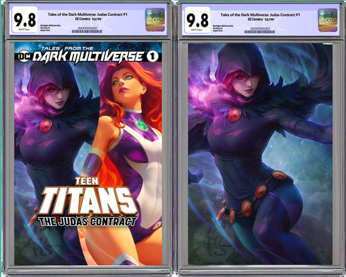 Tales From The Dark Multiverse The Judas Contract #1 Artgerm Collectibles Exclusive Raven Set Graded CGC