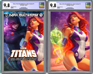 Tales From The Dark Multiverse: The Judas Contract #1 Artgerm Collectibles Exclusive Starfire Set Graded CGC