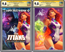 Load image into Gallery viewer, Tales From The Dark Multiverse: The Judas Contract #1 Artgerm Collectibles Exclusive Starfire Set Graded CGC