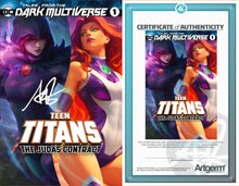 Load image into Gallery viewer, Signed With Metal COAs Tales From The Dark Multiverse: The Judas Contract #1 Artgerm Collectibles Exclusive 3 book set