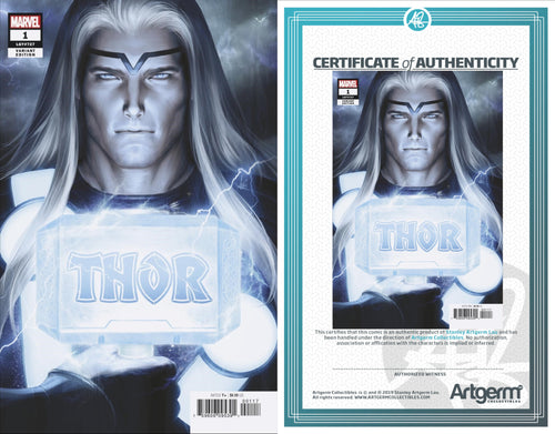 Signed with Metal COA Thor #1 Artgerm Variant (PRE-ORDER - 01/01/2020 release date)