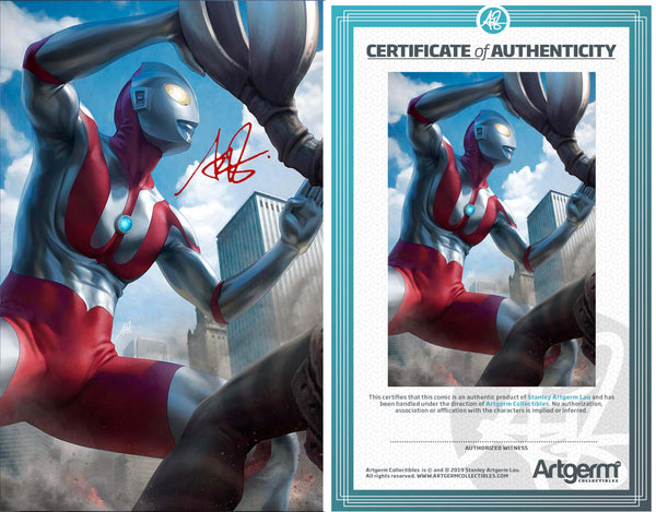 Signed with Metal COA Ultraman: Rise of Ultraman #2 Artgerm 1:100 Virgin Variant