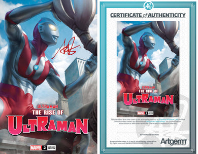 Signed with Metal COA Ultraman: Rise of Ultraman #2 Artgerm Trade Dress Exclusive Variant