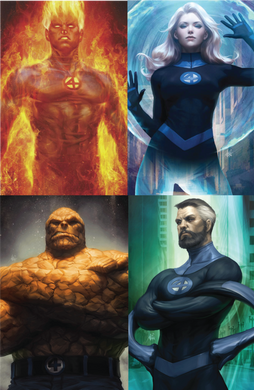 Fantastic Four #1, #2, and #3  Virgin Set