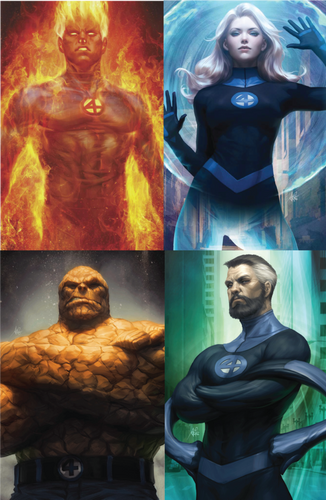 Fantastic Four #1, #2, and #3 Unknown Comics Exclusive Virgin Set
