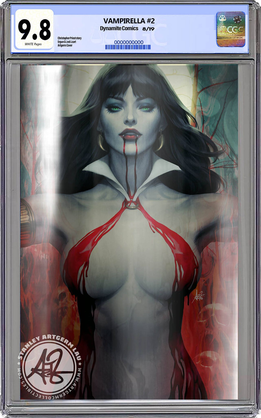 Vampirella #2 FOIL Virgin Artgerm Colletibles Exclusive CGC Graded Guaranteed 9.8 (PRE-ORDER - 8/21/2019 release date)