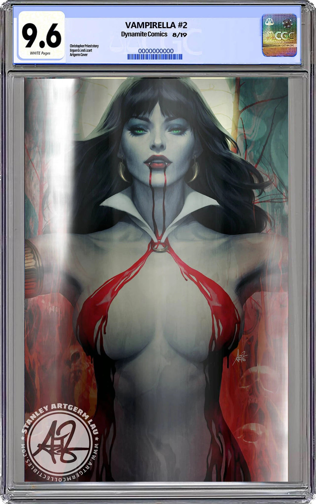 Vampirella #2 FOIL Virgin Artgerm Colletibles Exclusive CGC Graded 9.6