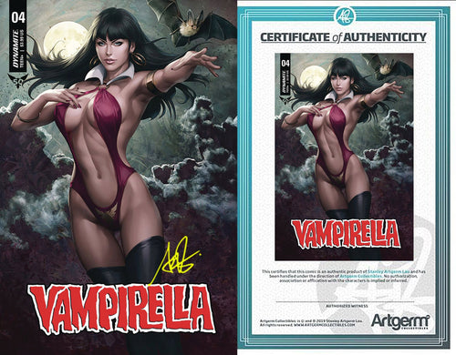 SIgned with Metal COA Vampirella #4 (PRE-ORDER - 10/16/2019 release date)