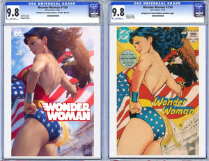 Wonder Woman #750 Artgerm Collectibles Exclusive 2 Book Set Graded CGC