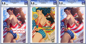 Wonder Woman #750 Artgerm Collectibles Exclusive 3 Book Set Graded CGC