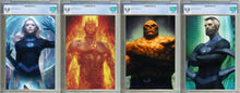 Load image into Gallery viewer, Fantastic Four #1, #2, and #3 Unknown Comics Exclusive Virgin Set Graded 9.8