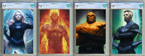 Fantastic Four #1, #2, and #3 Unknown Comics Exclusive Virgin Set Graded 9.8