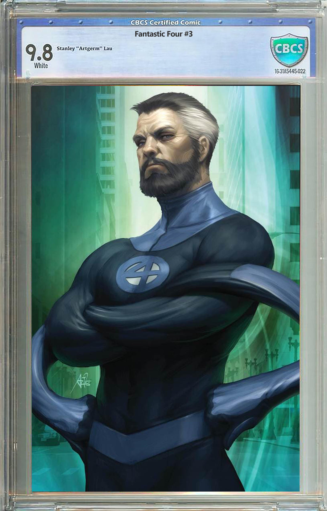 Fantastic Four #3 Unknown Comics Mr Fantastic Virgin Variant Graded 9.8