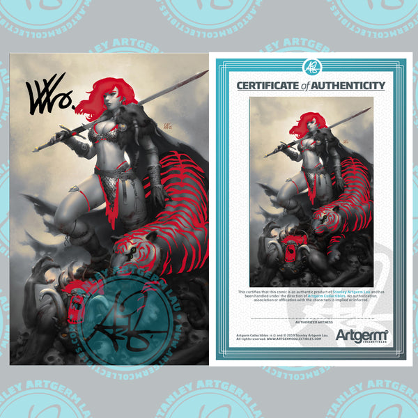 Signed With Metal COA Red Sonja: The Price of Blood #2 Art By Kunkka Exclusive PUREart Variant