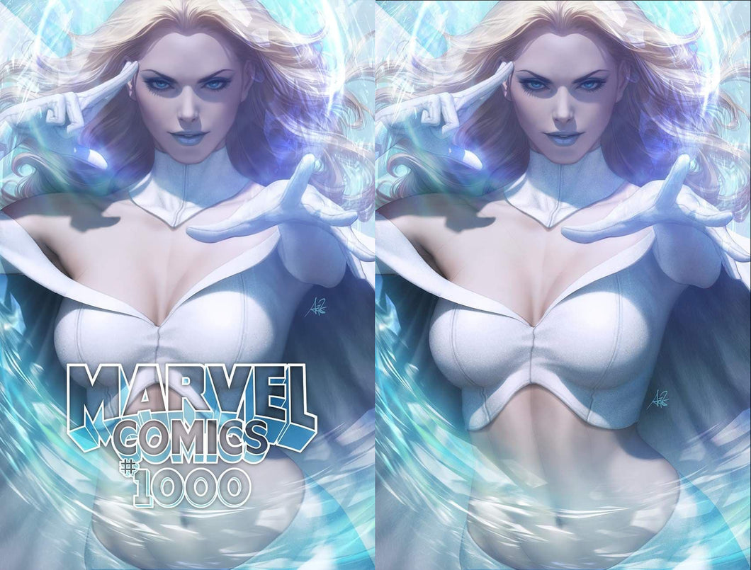 Marvel Comics #1000 Artgerm Collectibles Exclusive Two Book Set
