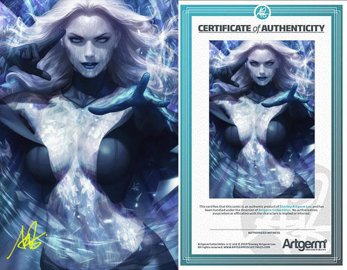 Signed With Metal COA Marvel Comics #1000 Artgerm Collectibles Exclusive Black Queen Variant