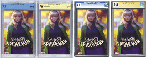 Symbiote  Spider-man #1 Artgerm Trade Dress Var Signed And Graded Guaranteed 9.8 (PRE-ORDER)