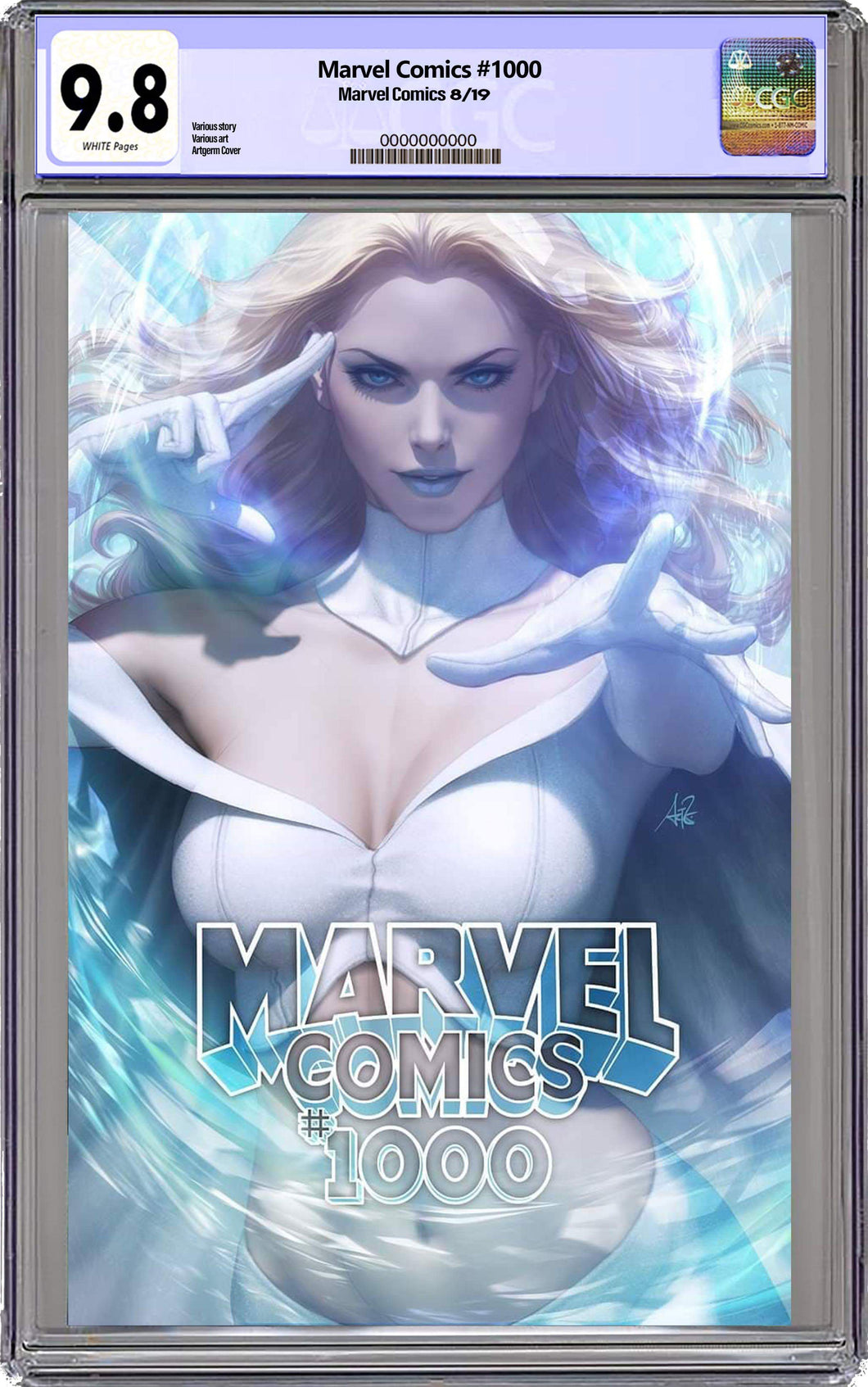 Marvel Comics #1000 Artgerm Collectibles Exclusive Trade Dress Graded 9.8