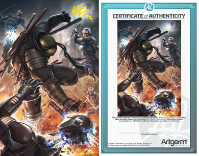 Signed with Metal COA TMNT: The Last Ronin #1 Art By Kunkka PUREart Revealed Variant (8/19/20 Release)