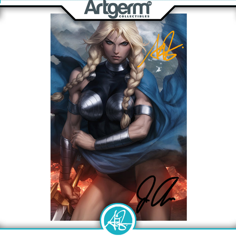 King In Black: Return of Valkyries #1 1:100 Artgerm Double Signed Virgin Variant