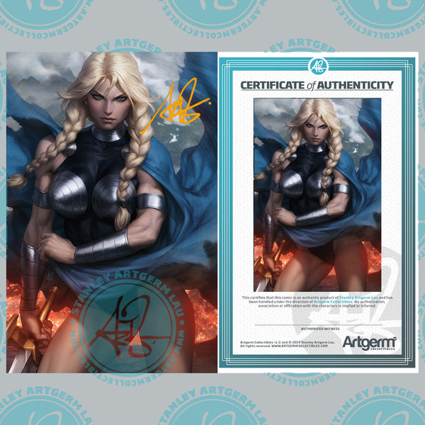 Signed With Metal COA King In Black: Return of Valkyries #1 1:100 Artgerm Virgin Variant