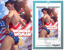 Load image into Gallery viewer, Signed with Metal COA Wonder Woman #750 Artgerm Collectibles Exclusive Variants