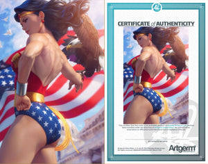 Signed with Metal COA Wonder Woman #750 Artgerm Collectibles Exclusive Variants