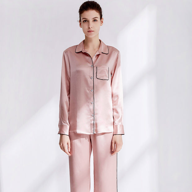 22 Momme Women's Classic Heavy Silk Pajamas Set- Two Color Selected