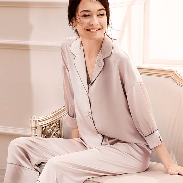 30 Momme Luxury Women's Loose Relax Silk Pajamas Set (Multi-Colors Selected)