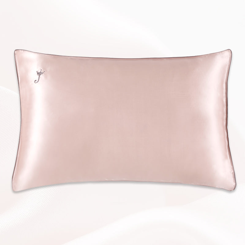 16 Momme Terse Cute Silk Pillowcase With Piping-Multi-color optional